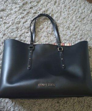 Armani Jeans Handbag black imitation leather