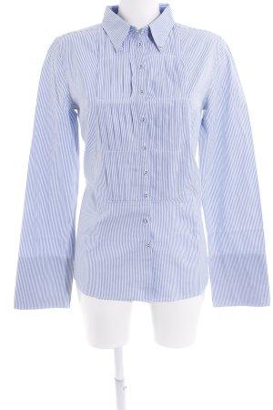 Armani Jeans Hemd-Bluse hellblau-weiß Streifenmuster Brit-Look