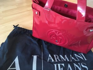 Armani Jeans Sac Baril rouge framboise
