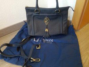 Armani Jeans Bolso barrel azul oscuro