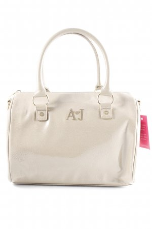 Armani Jeans Carry Bag grey brown Metal logo appliqué