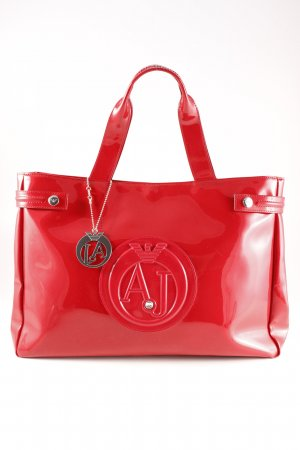 Armani Jeans Carry Bag red business style