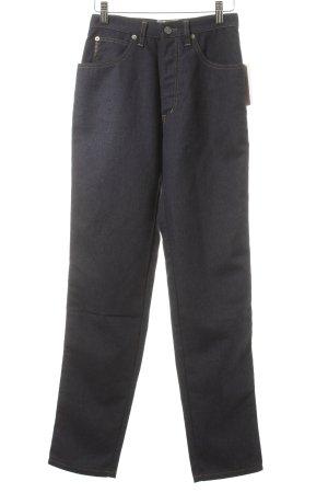 Armani Jeans High Waist Jeans dunkelblau Street-Fashion-Look