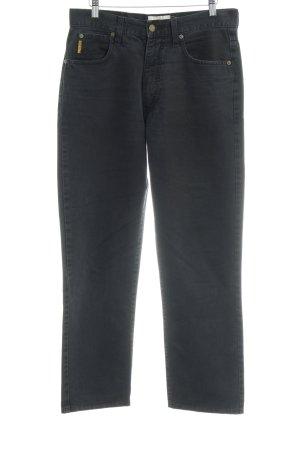 Armani Jeans Vaquero de talle alto gris oscuro look casual