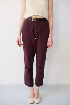 armani jeans highwaist straightleg aubergine S 36 38