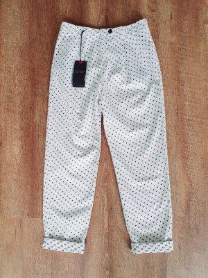 Armani Jeans Jersey Pants white-dark blue