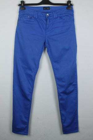 Armani Jeans Pantalón de tubo azul neón Algodón