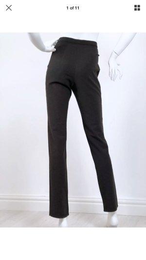 Armani Jeans High Waist Trousers dark brown