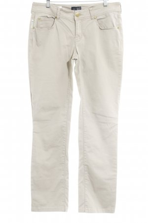 Armani Jeans Lage taille broek beige casual uitstraling