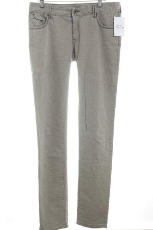 Armani Jeans Pantalon taille basse beige style simple