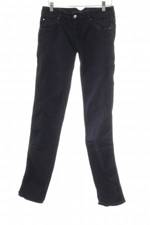 Armani Jeans Low Rise Jeans dark blue-silver-colored casual look