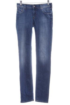 Armani Jeans Jeans vita bassa blu scuro stile da moda di strada