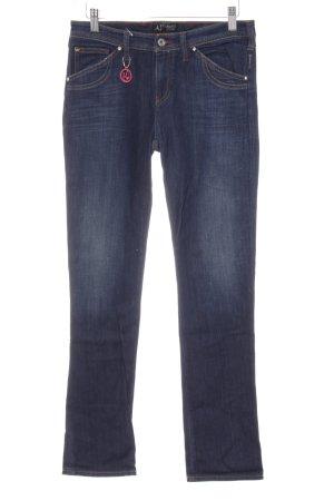 Armani Jeans Low Rise Jeans gold orange-dark blue casual look
