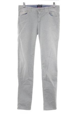Armani Jeans Hüftjeans hellgrau-weiß Casual-Look