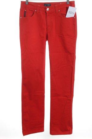 Armani Jeans Hüftjeans rot sportlicher Stil