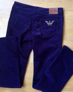 Armani Jeans Pantalon cinq poches violet foncé
