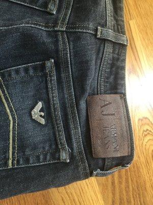 Armani Jeans Spijkerbroek donkergrijs-zwart Katoen