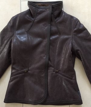 Armani Jeans Fake Fur Jacket dark brown