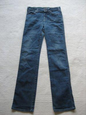 Armani Jeans Straight Leg Jeans neon blue