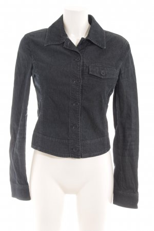 Armani Jeans Spijkerjack leigrijs gestippeld casual uitstraling