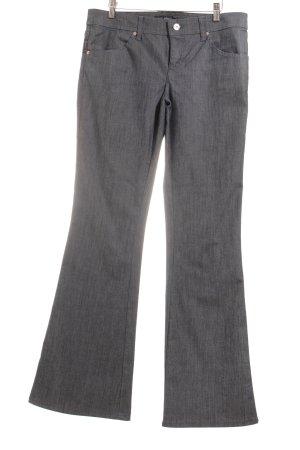 Armani Jeans Jeansschlaghose graublau meliert 80ies-Stil