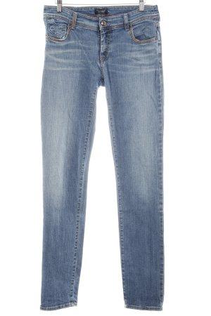 Armani Jeans Karottenjeans kornblumenblau Jeans-Optik