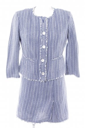 Armani Jeans Ladies' Suit steel blue-white striped pattern business style