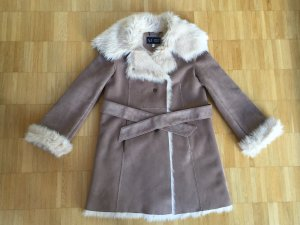 Armani Jeans Fake Fur Coat camel-light brown fake fur