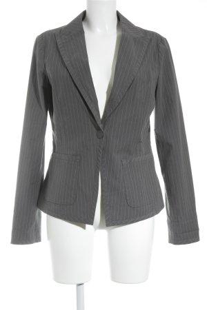 Armani Jeans Korte blazer donkergrijs-wit krijtstreep zakelijke stijl