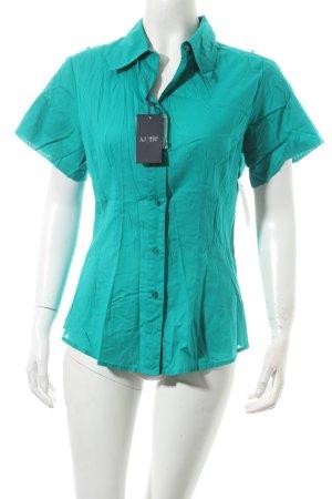 Armani Jeans Kurzarm-Bluse grün Eleganz-Look