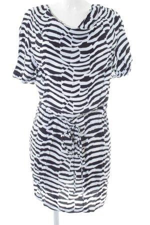Armani Jeans Jurk met korte mouwen zwart-wit dierenprint casual uitstraling