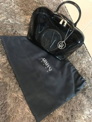 Armani Jeans Bowling Bag black-silver-colored