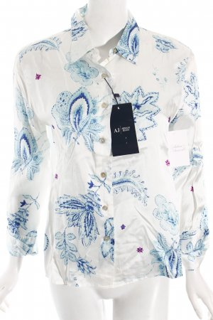 Armani Jeans Langarm-Bluse florales Muster Casual-Look