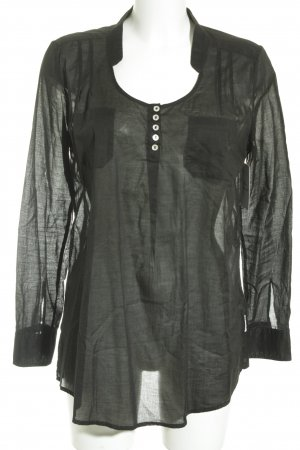 Armani Jeans Langarm-Bluse schwarz Elegant