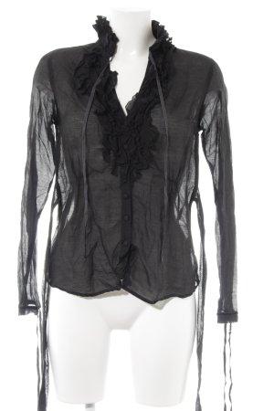 Armani Jeans Long Sleeve Blouse black extravagant style