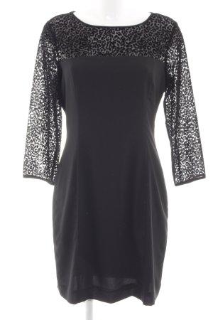 Armani Jeans Longsleeve Dress black animal pattern elegant