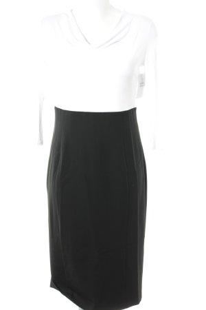 Armani Jeans Jurk met lange mouwen wit-zwart colour blocking zakelijke stijl