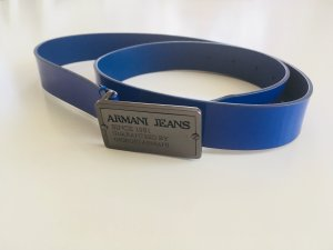 Armani Jeans Cinturón de cuero azul