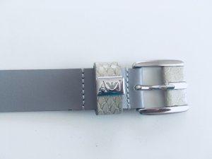 Armani Jeans Cinturón de cuero gris claro