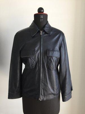 Armani Jeans Lederjacke schwarz schlichter Stil