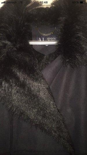 Armani Jeans Leather Coat black