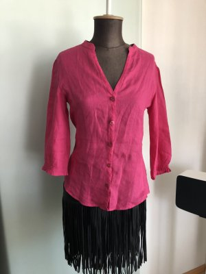 Armani Jeans Leinen Bluse Gr 36 S in pink