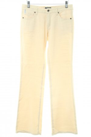 Armani Jeans Linen Pants cream casual look