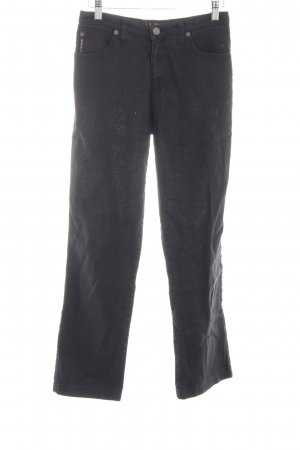 Armani Jeans Linnen broek zwart casual uitstraling