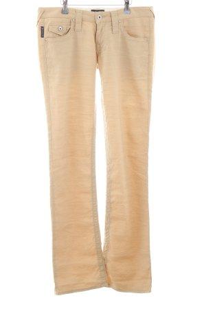 Armani Jeans Pantalón de lino crema look casual