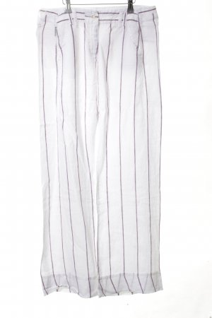 Armani Jeans Linen Pants white-lilac striped pattern casual look