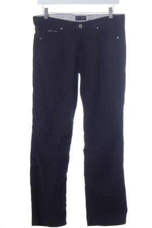 Armani Jeans Leinenhose schwarz Casual-Look
