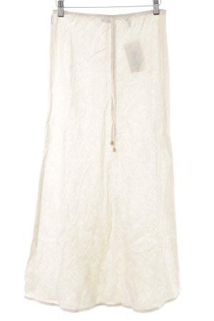 Armani Jeans Linnen rok licht beige minimalistische stijl