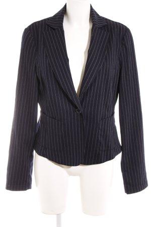 Armani Jeans Blazer lungo grigio-blu scuro motivo a righe stile professionale