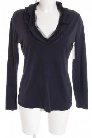Armani Jeans Longshirt dunkelblau-graublau Romantik-Look